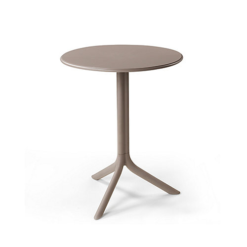 Spritz Outdoor Bistro Table with Two Bases - Tortora