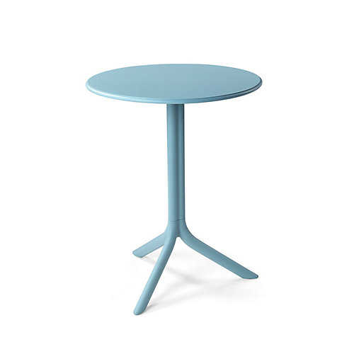 Spritz Outdoor Bistro Table with Two Bases - Celeste