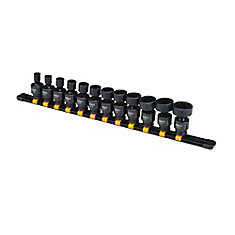 12 Piece 3/8 in Drive Impact Universal Socket Set