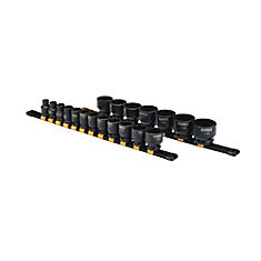 1/2-inch Drive SAE Impact Socket Set (19-Piece)