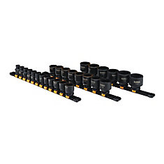 26 Piece 1/2 in Drive Metric Impact Socket Set 6 PT