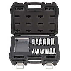 15 Piece 3/8 in Drive Deep Metric Socket Set - 6 Point
