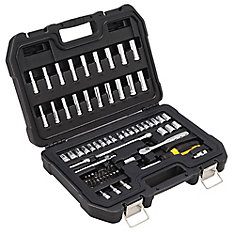 69 Piece 1/4 in Drive Combination Socket Set - 6 Point