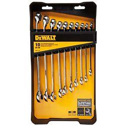 DEWALT Metric Combination Wrench Set (10-Piece)