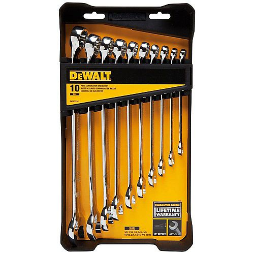 DEWALT SAE Combination Wrench Set (10-Piece)