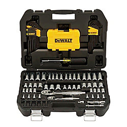 DEWALT 1/4-inch x 3/8-inch Drive Polished Chrome Mechanics Tool Set (108-Piece)