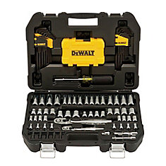 108 Piece 1/4 in & 3/8 in Drive Mechanics Tools Set