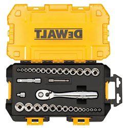 DEWALT 1/4-inch and 3/8-inch Drive Socket Set (34-Piece)