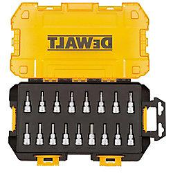 DEWALT 3/8-inch Drive Bit Socket Set with Case (17-Piece)