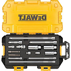 DEWALT 1/4-inch and 3/8-inch Drive Tool Accessory Set with Case (15-Piece)