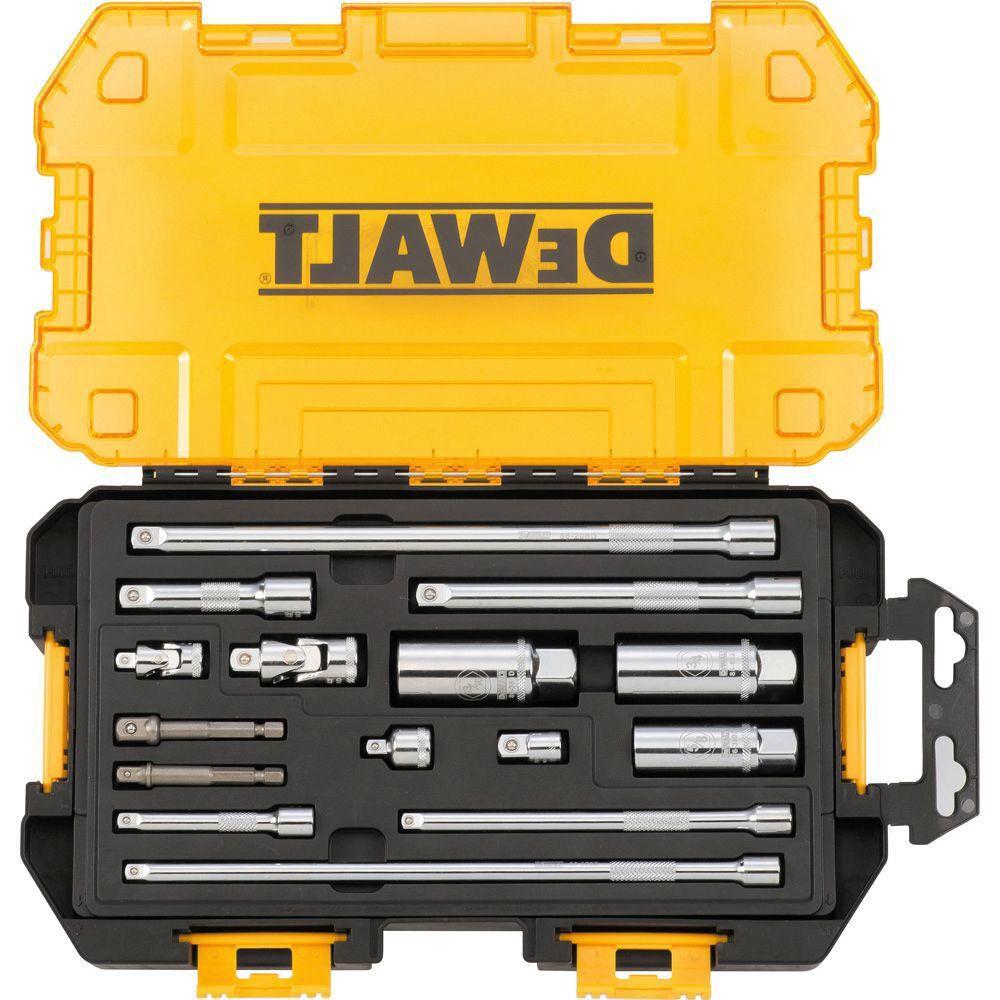 DEWALT 1/4-inch & 3/8-inch Drive Tool Accessory Set (15 Piece)