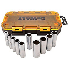 1/2-inch Drive Deep Socket Set (10 Piece)