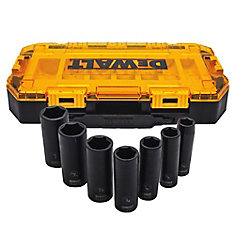 7 Piece 1/2-inch Drive Deep Impact Socket Set