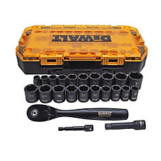 3/8-inch Drive Combination Deep Impact Socket Set with Ratchet (23-Piece)