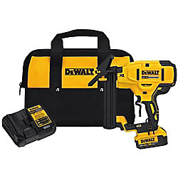 DEWALT 20V MAX XR Li-Ion Cordless 18-Gauge Flooring Stapler with Battery 4Ah, Charger and Contractor Bag