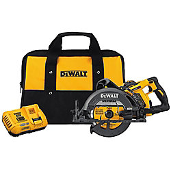DEWALT FLEXVOLT 60V MAX Li-Ion Cordless Brushless 7-1/4-inch Wormdrive Style Circ Saw w/ Battery 3Ah, Charger and Bag