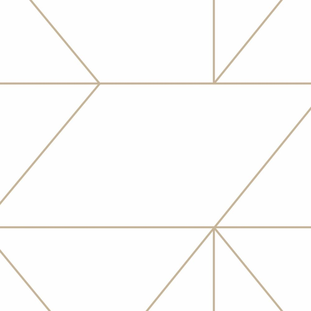 Graham & Brown Kelly's Geo Gold Removable Wallpaper | The Home Depot Canada