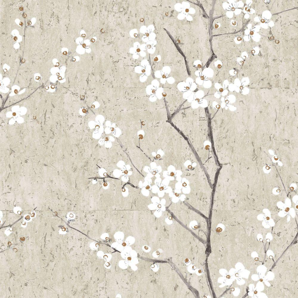 Graham & Brown Sakura Pale Gold Kyoto Wallpaper Sample