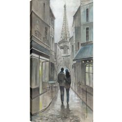 Art Maison Canada 24X48 Romantic Walk, Printed canvas gallary wrapped wall art