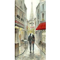 Art Maison Canada 24 x 48 romantique promenade en soirée, enveloppé de toile imprimée gallary art pariétal