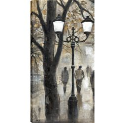 Art Maison Canada 24X48 Stroll Through The Park, Printed canvas gallery wrapped wall art