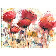 30 x 40 fleurs au printemps, enveloppé de toile imprimée gallary art pariétal
