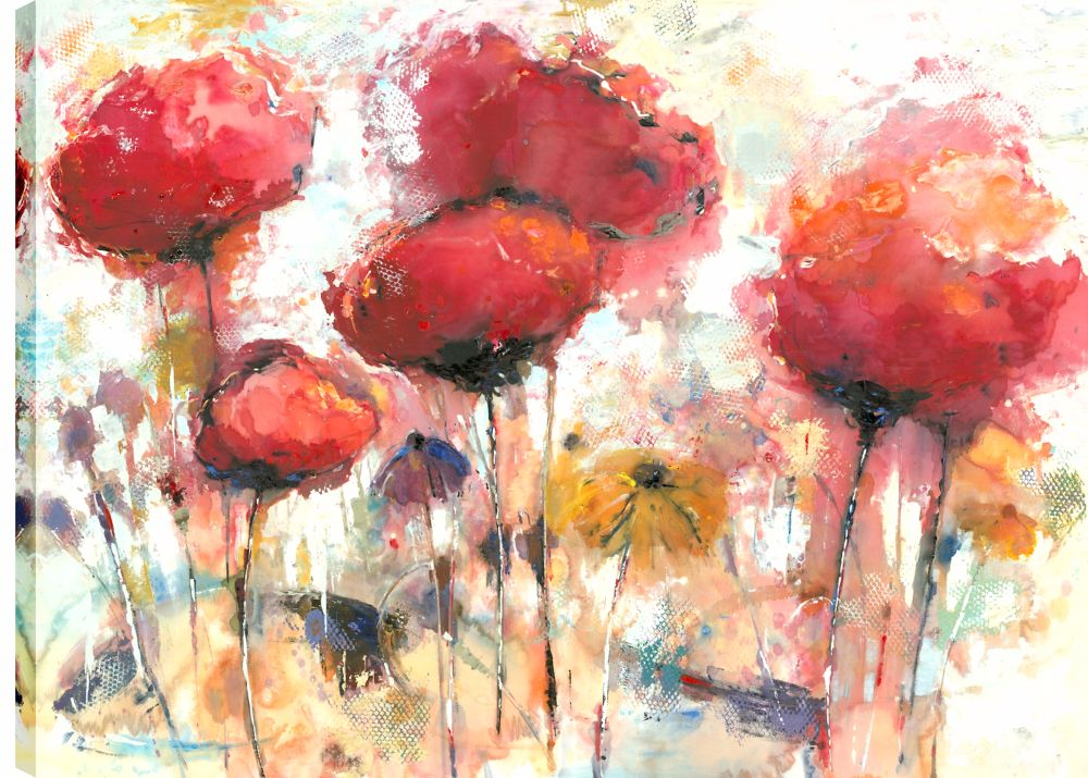 Art Maison Canada 30X40 Florals In Spring, Printed canvas gallery wrapped wall art
