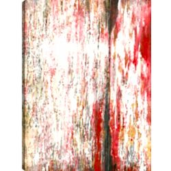 Art Maison Canada 30X40 Red Floral Abstract, Printed canvas gallary wrapped wall art