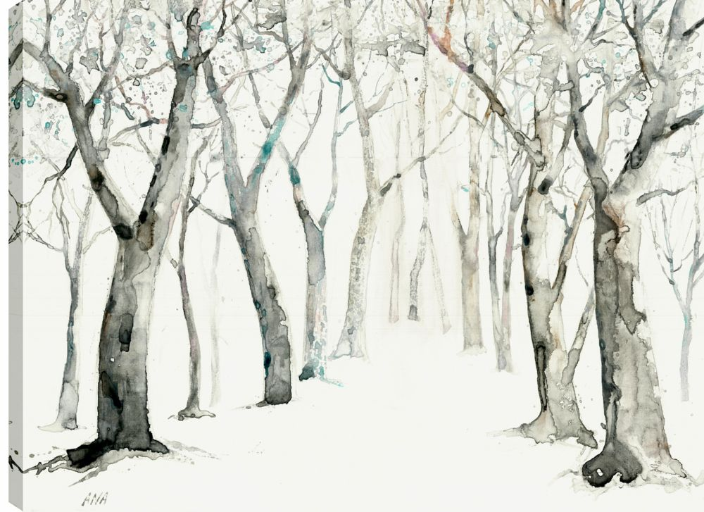 Art Maison Canada 30X40 Winter In The Forest, Printed canvas gallery wrapped wall art