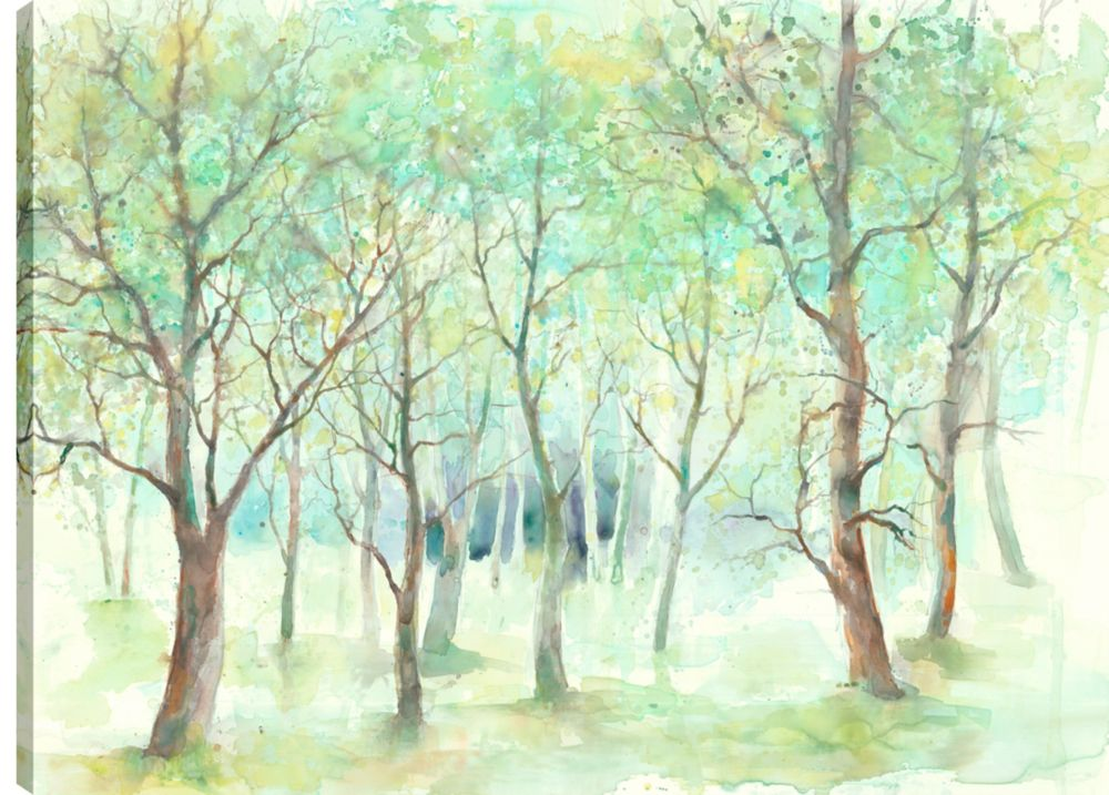 Art Maison Canada 30X40 Green Trees, Printed canvas gallery wrapped wall art
