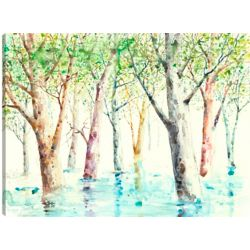 Art Maison Canada 30X40 Green Trees 2, Printed canvas gallary wrapped wall art