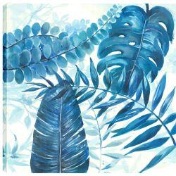 Art Maison Canada 24 x 24 Branches bleu, imprimé toile art pariétal enveloppé gallary