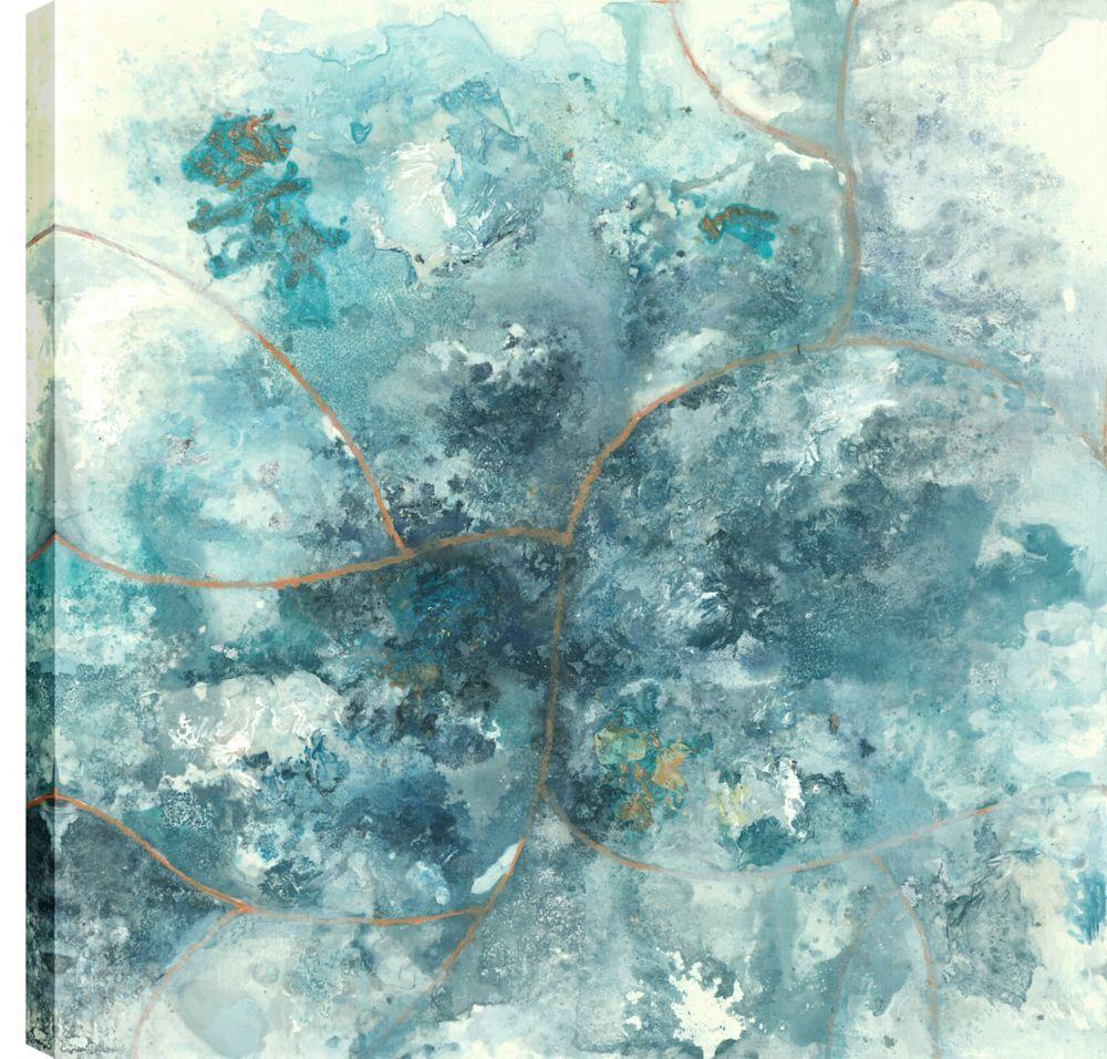 Art Maison Canada 24X24 Blue Mosaic 2, Printed canvas gallary wrapped wall art