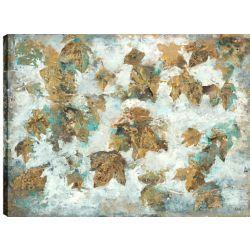 Art Maison Canada 30 x 40 feuilles d'érable en hiver, gallary sticker enveloppé de toile imprimée