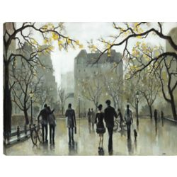 Art Maison Canada 34X46 Ice Skating in the Park,  Printed canvas gallary wrapped wall art