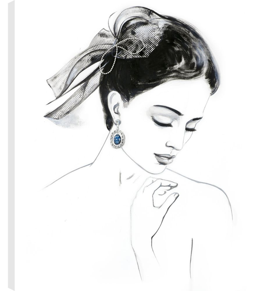 Art Maison Canada 20X24 Pretty Lady, Printed canvas gallery wrapped wall art