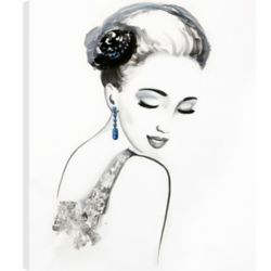 Art Maison Canada 20X24 Lady with the Blue Earrings, Printed canvas gallery wrapped wall art