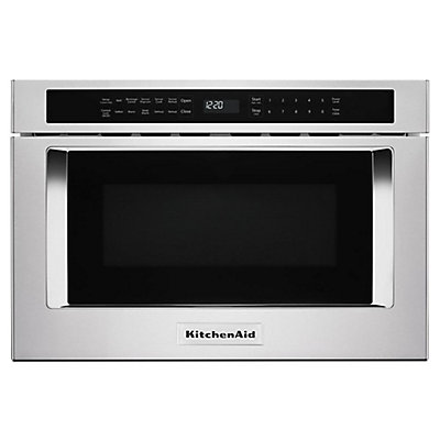 Kitchenaid 24 Inch Under Counter Microwave Oven Drawer In Stainless Steel The Home Depot Canada