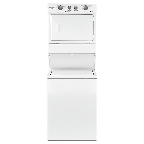 Stacked 4.0 cu. ft. Washer and 5.9 cu. ft. Electric Dryer in White