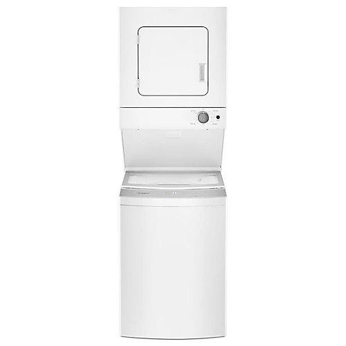 Laveuse empilée de 1,8 pi3 et sécheuse électrique de 3,4 pi3 en blanc