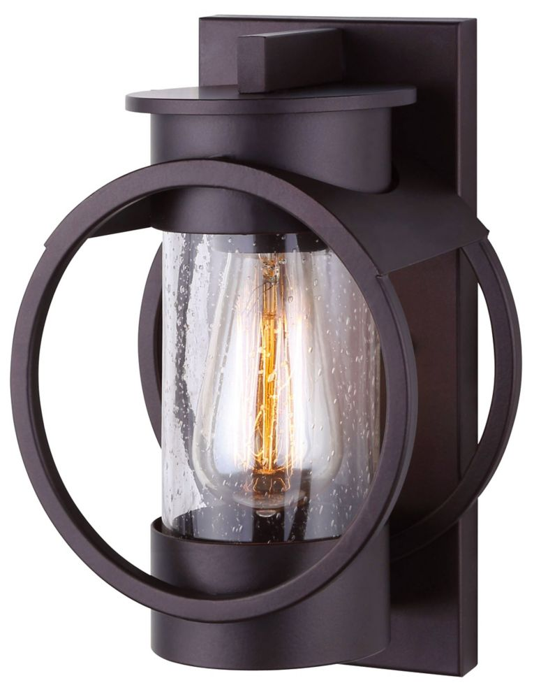 canarm cire light oil rubbed bronze outdoor wall light