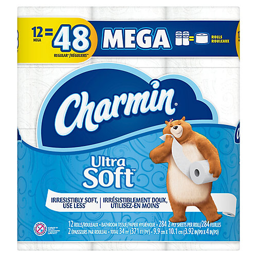 Papier hygiénique Charmin UltraSoft - 12rouleaux Méga