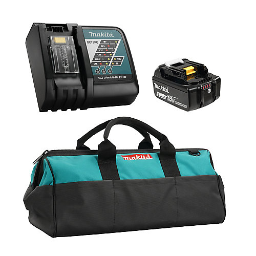 18V 5.0Ah Lithium-Ion Battery & Rapid Charger Kit