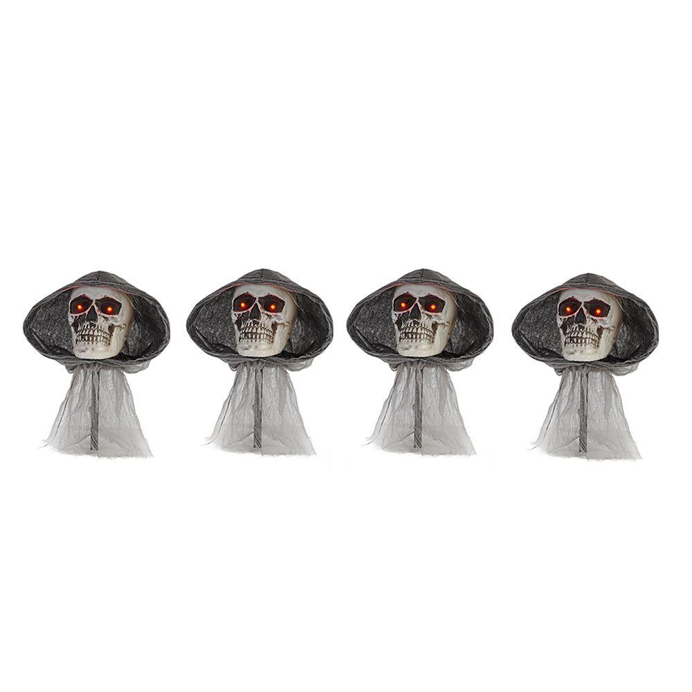 Home Accents Halloween Grim Reaper Pathway Lights (4-Pack)