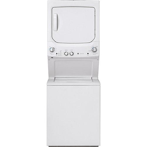 Laveuse et sécheuse empilées de 27 pouces Centre de lavage et de sécheuse en blanc