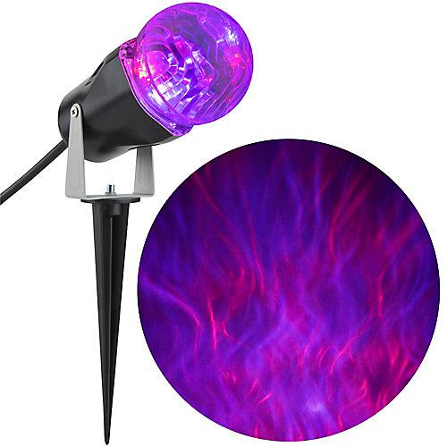 LED GhostFlame Purple Projection Spotlight