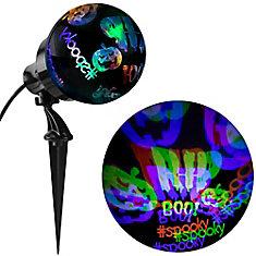LED NeonGlo Scary Pumpkin Projection Spotlight