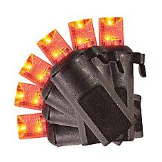 Ampoules concaves à DEL à piles variées avec minuterie, ensemble de 20