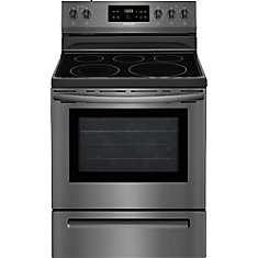 30-inch 5.3 cu. ft. Electric Range with Self-Cleaning in Black Stainless Steel
