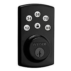 Weiser Powerbolt 2.0 Pêne Dormant Électronique en Noir